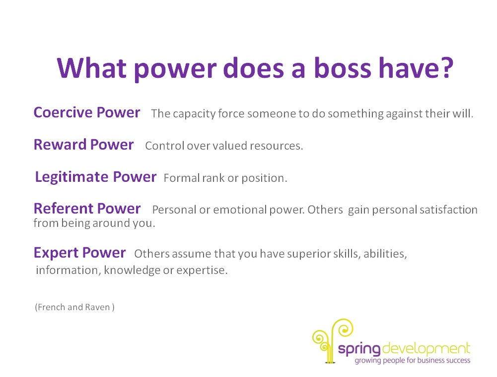 What power does a boss have?